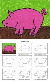 Art Projects for Kids: How to Draw a Pig