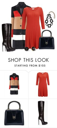 """""""A color block coat"""" by dgia ❤ liked on Polyvore featuring Monsoon, Gucci, Kate Spade, Yves Saint Laurent and Forever 21"""