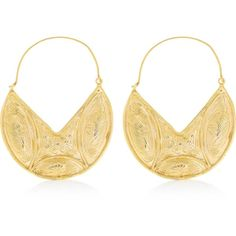 Ottoman Hands Statement Earrings (£45) ❤ liked on Polyvore featuring jewelry, earrings, gold, pendant earrings, earring jewelry, pendant jewelry, statement earrings and oversized earrings