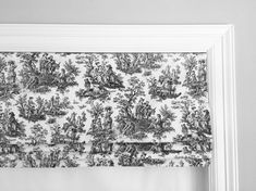 Faux fake flat roman shades valance. Your choice of fabric