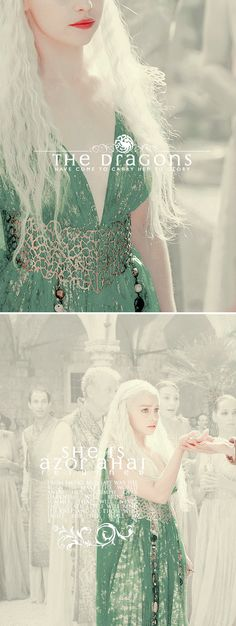 Daenerys Targaryen: H e r  coming is the fulfillment of an ancient prophecy. #asoiaf
