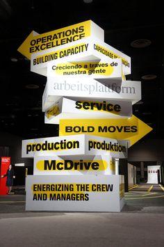 Mauk Design — McDonald's 3d Design, Display Design, Event Design, Stand Design, Wayfinding Signage, Signage Design, Environmental Graphics, Environmental Design, Buskers Festival