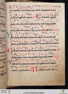 Antiphonarium Cisterciense Salem, um 1200 Cod. Sal. X,6b  Folio 114r