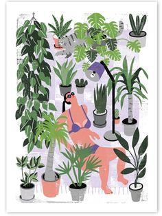 Es ist soweit! Die Gewinner-Poster unseres Botanical Poster Contests sind jetzt im Shop erhältlich! Hier: Botanical Summer Poster (50x70cm) von Lisa Tegtmeier für die Human Empire Artist Series.