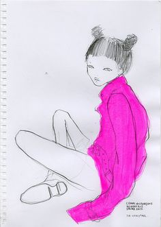 ERI WAKIYAMA, SS12 COMME DES GARCOS HOMME PLUS: i love her illustrations and her adventures.