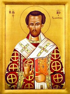 Icon of St. John Chrysostom - c. John Chrysostom, Love Your Wife, Orthodox Christianity, Orthodox Icons, Altar, Catholic, Saints, Religious Icons, Religious Art