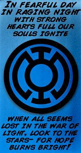 My second favorite lantern corps!! I love their oath.. and what they stand for. I think if I was a lantern I would be a blue lantern!! :)