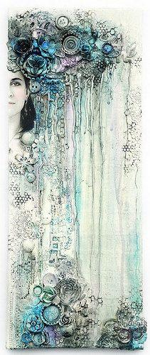 Sadness - collage by finnabair, via Flickr