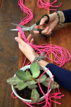 Step 17 — Cut off any excess rope, leaving a few inches at the top as a tassel.