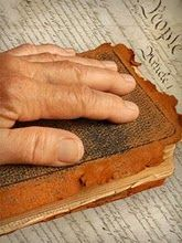 Worn and vintage bible
