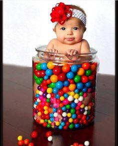 baby girl in gumball jar! So cute:) Baby Pictures, Baby Photos, Cute Pictures, Cute Kids, Cute Babies, Baby Kids, Foto Newborn, Newborn Photos, Children Photography