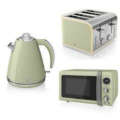 Set Of Kettle And Toaster Breakfast Lime Green Clearance