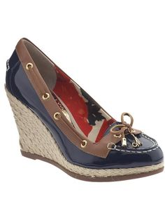sperry top sider wedges - love them!