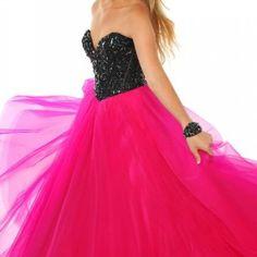 Pretty long pink dress
