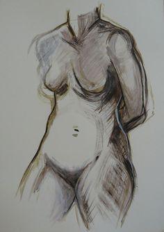 Puhelias, akryyli, 70x100 cm (Katja Hynninen, 2013)