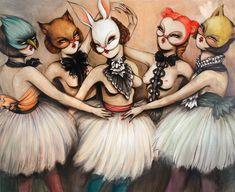 Miss Van   Bailarinas 5 acrylic on canvas 55.125 x 66.875 inches (140 x 170 cm)