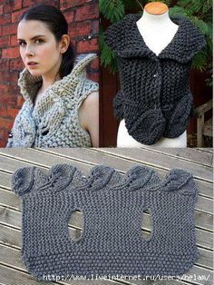 "Foliage Wrap | Knitting - Free pattern      ~Pinner wrote : ""I have this wrap, it's fantastic, soft, squishy and can be worn lots of ways.""~ Via Marcia Tilton"