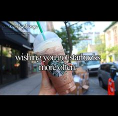 I wish I could be a typical white girl and get Starbucks every day! My life would be 20% complete, hahaha