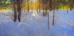Blank Canvas - An Interview with Peter Fiore - Master Oil Painting Painting Snow, Winter Painting, Winter Art, Light Painting, Large Painting, Landscape Artwork, Abstract Landscape, School Of Visual Arts, Winter Landscape