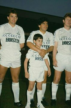 Mabs, some loanee, Clive Allen and Ossie's son Pablo at Ossie's testimonial.