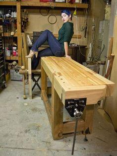Glamming that workbench... LOL!