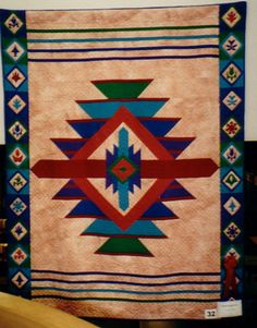 142 best A Navajo Quilts images Star Quilts, Quilt Blocks, Quilting Projects, Quilting Designs, Southwestern Quilts, Make Do, Motifs Textiles, Native American Patterns, Indian Quilt