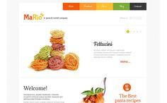 Italian Restaurant Wspieranie WPML Szablon WordPress Duży zrzut ekranu