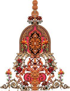 Jewellery motif for textile design 5070 ~ Free Textile Digital Designs Design Textile, Motif Design, Textile Prints, Textile Art, Textiles, Baroque Pattern, Pattern Art, Images Noêl Vintages, Stencil Painting On Walls