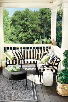 An outdoor sectional creates maximum seating