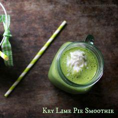 Key Lime Pie Smoothie- green smoothie that tastes like pie! | Practical Stewardship #greensmoothie