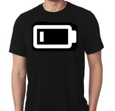 New Low Battery Phone Computer Humor Tshirt by MarieLynnTshirt