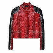 Одежда ручной работы. Ярмарка Мастеров - ручная работа Куртка из кожи питона RENDEZVOUS. Handmade.