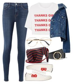 """Style #518"" by asyuraa ❤ liked on Polyvore featuring L'Agence, Comme des Garçons, STELLA McCARTNEY, Balenciaga, Gucci, Frame and Loewe"