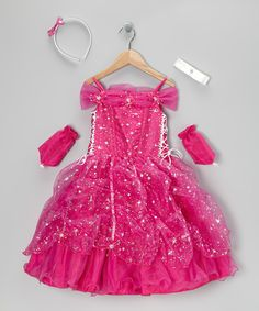 Fuchsia Pick-Up Dress Set - Toddler & Girls