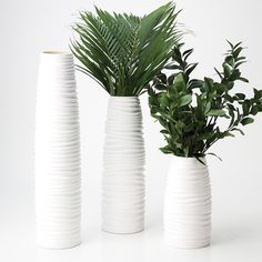 WHITE VASE SET for coffee table IMPUSLE! White Nordic Vases | Overstock.com Shopping - Great Deals on Impulse Vases $92 NOTE: You can also find vases pretty easily 2nd hand and/or spray paint any 3 vases white to make them a set.
