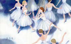 Dancing Girls by Weinian Du Girl Dancing, Figure Painting, Watercolor Illustration, Disney Characters, Fictional Characters, Character Design, Concept, Dance, Disney Princess