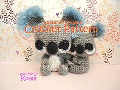 amigurumi Koala crochet pattern PDF guide INSTANT by gurumiorama