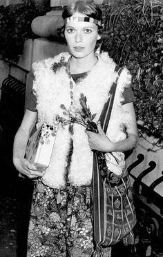 Mia Farrow circa 1970. <3