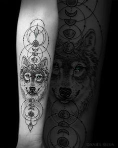 "Daniel J Silva (@danielsilvatattoos) on Instagram: ""Moon phase wolf goddess Feel free to like /share or tag a friend. All good vibes appreciated."""
