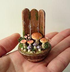 miniature * mushroom cup