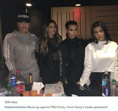 Defiant: Khloe Kardashian sent a strong message to her brother Rob during a visit to Kanye...