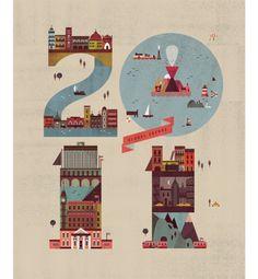 Typeverything.com - Herald Tribune magazine cover illustrated by Lotta Nieminen.