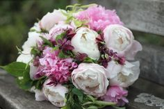 Fluffy and fragrant peony bouquet by Emma Lappin Flowers