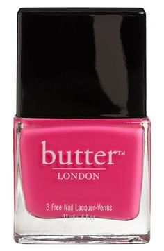 Loving this pink nail polish that creates a bright splash of color.
