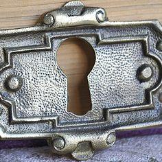 vintage  brass escutcheon...   key hole plate... by CoolVintage, $19.50