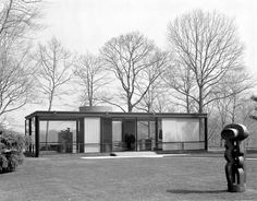 Philip Cortelyou Johnson (American, 1906-2005) | The Glass House for Philip Johnson and David Whitney | 199 Elm St, New Canaan, Connecticut | 1949-1986 | Photo: Pedro Guerrero