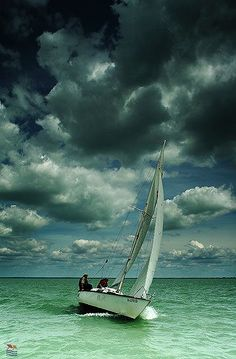 Hungary, with sailboat on the Lake Balaton, before storm _ Magyarország, vitorlással Balatonon, vihar előtt Places Around The World, Around The Worlds, I Love The Beach, Wanderlust, Budapest Hungary, Holiday Travel, Belle Photo, Places To See, Beautiful Places