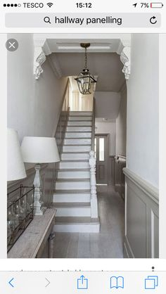 Modern Country Style: The Best Paint Colours For Small Hallways Click through fo. - Modern Country Interiors - Modern Country Style: The Best Paint Colours For Small Hallways Click through for details. Victorian Hallway, Modern Victorian, Victorian Homes, Style At Home, Hallway Designs, Hallway Ideas, Staircase Ideas, Staircase Design, Railing Ideas