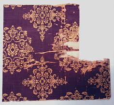 Textile With Fl Medallion China Tang Dynasty 618 907 The Met