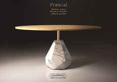Popigai Dining table - Designer Monzer Hammoud - Pont des Arts Studio - Paris